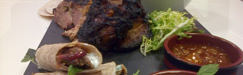 Indian spiced lamb shoulder