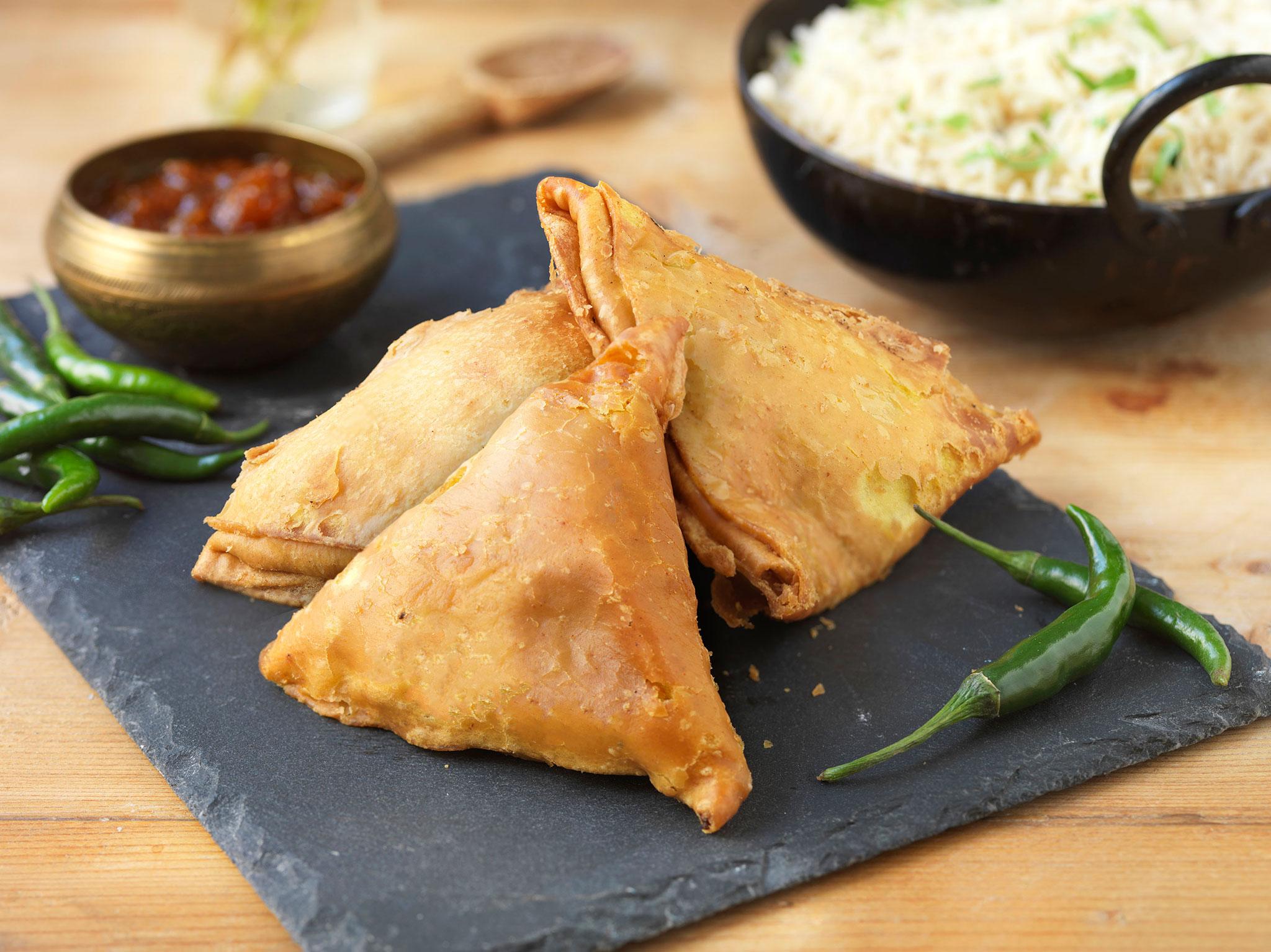 Chicken Tikka Samosas - SK Foods